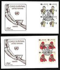 Un Vienna #55-56 Child Survival - Set of 2 Artmaster B4Fdcs