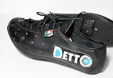 Vintage leather cycling shoes eroica Detto Pietro 39 lace