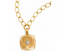 Brighton Versailles Suisses Necklace Brushed Gold Swarovski Crystal NWT $100