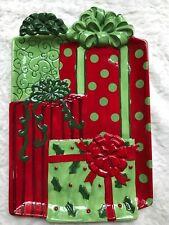 New Fitz & Floyd Gourmet 18.5� X 12� Platter, Kringle Christmas