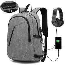 Anti Theft Backpack Laptop Bag USB Charging Port Schoolbag College Study Safety
