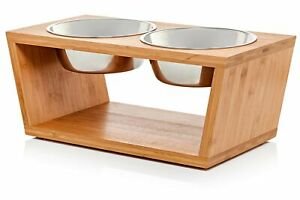 """Pawfect Pets Elevated Dog Bowl Stand- 7"""" Raised Dog Bowl for Medium Dogs.... New"""
