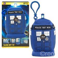 """Doctor Who 4"""" TARDIS Aufklipsen Sprechenden Plüsch Lichter & Geräusche Offiziell"""