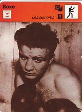 BOXE carte boxeur fiche photo  LAURENT DAUTHUILLE ( FRANCE )