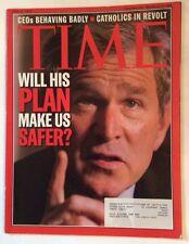 GEORGE W BUSH TIME MAGAZINE JUNE 17 2002 VERY GOOD
