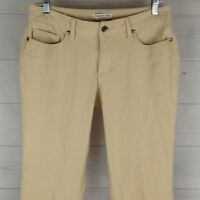Coldwater Creek Natural Fit Petite Womens Size 8P STRETCH Beige Bootcut Jeans