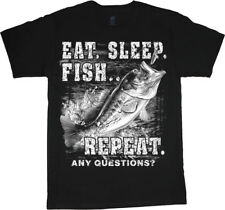 Sale: 4XLT - Big and Tall Funny Bass Fishing Tee Shirt Men's Bigmen Gifts