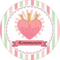 Kommunion Eßbar Tortendeko Tortenaufleger Party Deko Muffin Kerze Kirche neu