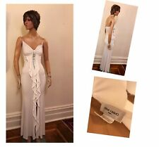 Vintage White Evening Gown by Orna Farho, Paris