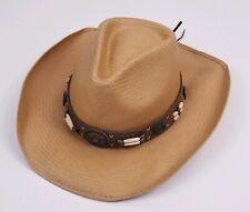 Bullhide Open Road Straw Mens 50X Cowboy Hat Tan Size XL Western Hat New