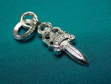 Chrome Hearts Sterling Silver 925 Small Dagger Pendant Charm 5.1 Grams $475