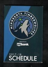 Minnesota Timberwolves--2017-18 Pocket Schedule--All Eyes North