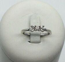 Ring mit Diamanten ca. 0,17 ct. 9 K/375er Weissgold Gr. 54 TOP