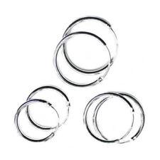 Snap Closure Hoop Fine Silver Fine Earrings