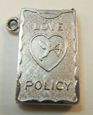 Love Policy Charm* Wells Sterling Silver Movable