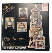 New Sealed Shaped Lighthouse Light House USA Roger Bansemer Nautical Map Puzzle