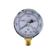 High Pressure Gauge For Oxygen Regulator 0 4000 Psi 2 Inches 18 Npt Thread