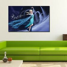 40×60×3cm Disney Frozen Elsa Canvas Print Kids Wall Art Framed Nursery Decor DIY