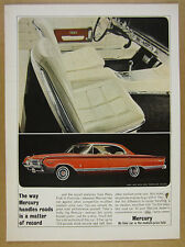 1964 Mercury Park Lane with Marauder Package red car photo vintage print Ad