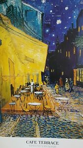 Vintage Cafe Terrace Vincent Van Gogh poster 61cm x 91cm appox please no offers