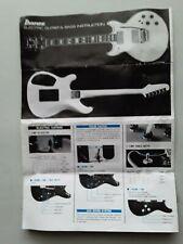 VINTAGE 1985 Ibanez Electric Guitar & Bass brochure ROADSTAR  ARTIST MUSICIAN