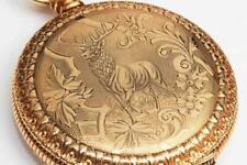 1897 WALTHAM Ornate Antique 16 Size Pocket Watch w/ ENGRAVED BUCK - Exceptional!