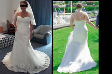 Anna Sorrano, ivory wedding dress, size 16, pre-owned