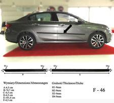 Seitenschutzleisten schwarz für Fiat Tipo Stufenheck ab 10.2015- Rammschutz