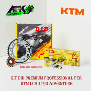 Kit Trasmissione DID Pignone+Corona+Catena KTM LC8 1190-R Adventure 2013 al 2016