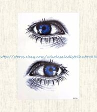 """US SELLER, eyes 8.25""""extra large temporary arm tattoo waterproof party favor"""