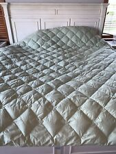 QUEEN SIZE Green Cotton QUILTED DOWN COMFORTER Duvet Insert THE COMPANY STORE