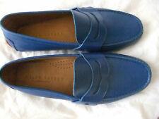 RALPH LAUREN MEN'S SHOES SIZE UK 7 BLUE LEATHER SOFT SOLE  US 8E  Slip on