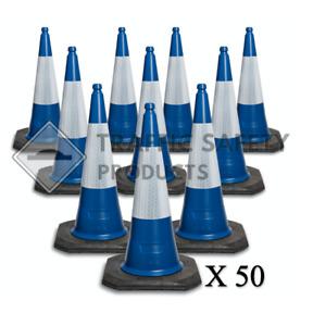 50 Pack of - INAVATUS Traffic Cones 750mm 2 piece BLUE