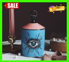Fornasetti Big Eyes Jar With Lids Ceramic Decorative Candle Holder Storage Box