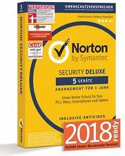 NORTON (Internet) SECURITY *5-Geräte/1-Jahr* 2017/2018 PC/Mac/Handy/Tablet - BOX