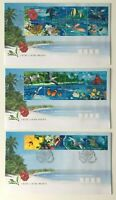 CK96) Cocos Keeling Island 1999 Living Mosaic FDC 3 Covers