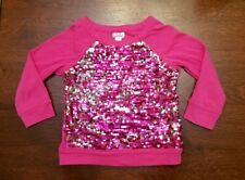 Girls' pink sequin embellished sweater   Justice   Size 8   Used