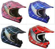 AMZ 601 DOT Youth Helmet Red Blue Pink Black Spiderman Offroad Dirt Bike ATV