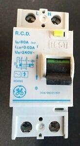 GE 80A 30mA RCD (series E ) 304/28031-601 ! All live tested !