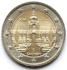 Germany 2 euro 2016 Saxony Dresden A UNC (#2293)
