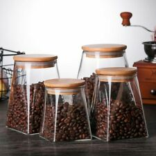 Glass Food Storage Containers With Lids Coffee Jar Tea Jar Glass Container Spice