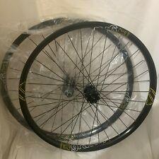 "FSA Gravity Downhill 36 Straight Lace Spoke 26"" Bike Wheels Wheelset Black MTB"