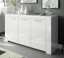 Mueble aparador para comedor o salon blanco tres puertas 144 cm