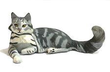 Japan Kaiyodo Cute Silver Maine Coon Cat Pet Miniature Animal Realistic Figure