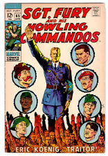 SGT. FURY AND HIS HOWLING COMMANDOS #65 in FN a 1969 Marvel comic NICK FURY