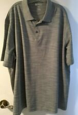 Men's Haggar Clothing Golf Style Shirt Light Gray 2 Button Size 3XL  NWOT