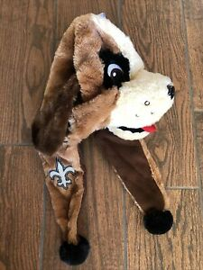 NFL Forever Collectibles New Orleans Saints Dog Hat with ear flaps