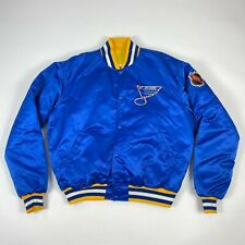 Vintage St Louis Blues Satin Starter Jacket NHL Hockey USA Made Mens XL