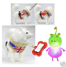 Dog/Puppy Harness,Adjustable Harness With LED Flashing Light& Dog Toy!Made In UK