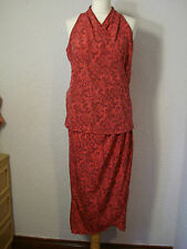 Next raspberry pink paisley pattern wrap skirt & top set 12